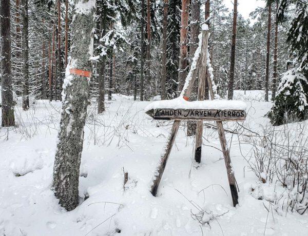 Kahden järven kierros talvella, Kuhankuonon retkeilyreitistö